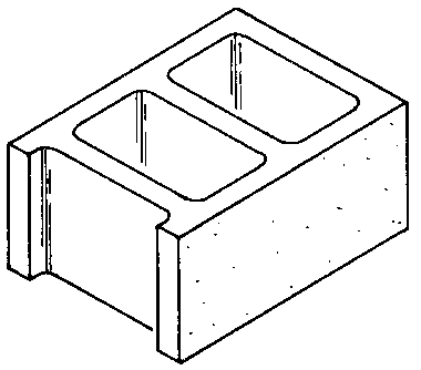 Hollow blocks clipart.