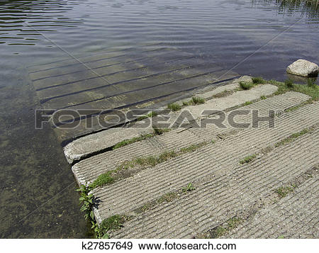 Stock Photograph of Concrete boat launch k27857649.