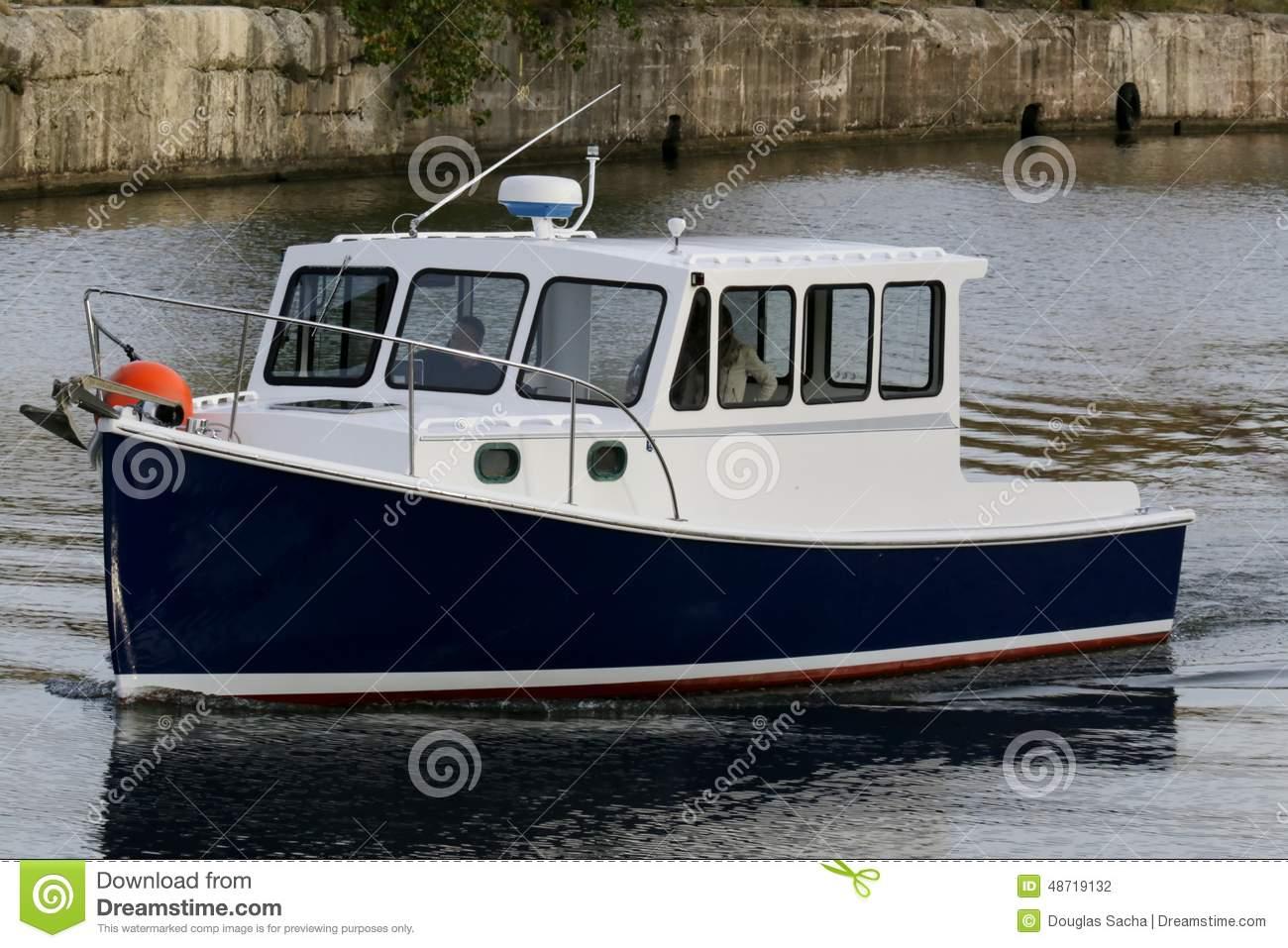 Marine Ferry Boat Stock Photo.