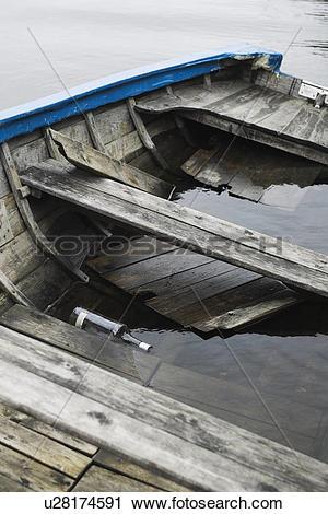 Stock Photography of Battered, Boat, Bottle, Canoe, Chipped.