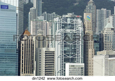 Stock Photo of Sky Scrapers Towers ; construction boom ; concrete.