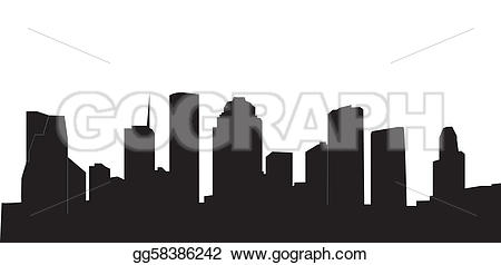 Stock Illustrations Houston skyline Stock Clipart gg58386242.