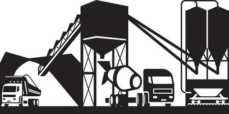 1,802 Cement Plant Stock Vector Illustration And Royalty Free Cement.