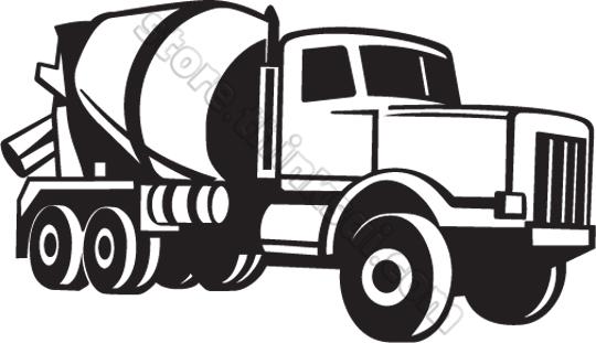 Clipart concrete truck.
