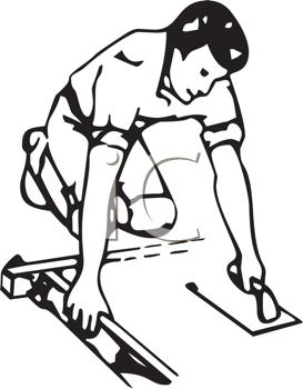 Concrete Worker Clipart.