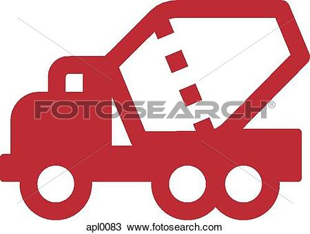 Drawing of An illustration of a concrete truck apl0083.
