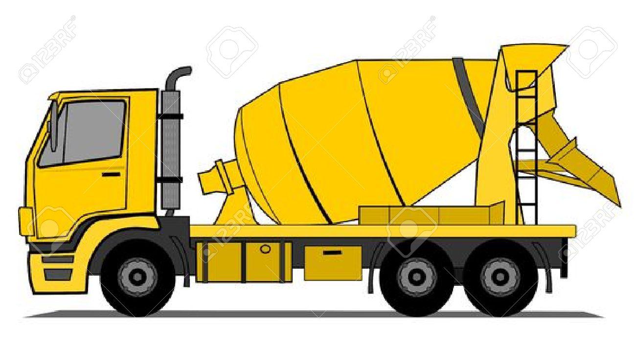Concrete Clip Art : Concrete mixer truck clipart clipground