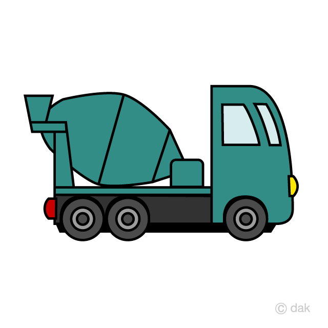 Cute Concrete Mixer Truck Clipart Free Picture|Illustoon.