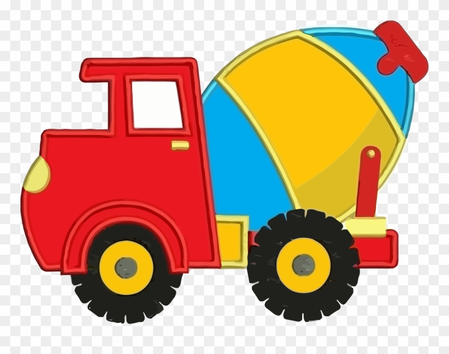 Cement Truck Colorful Clipart Png Transparent Png (#1976472.