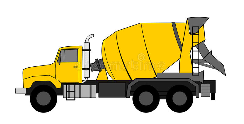 Concrete Mixer Truck Stock Illustrations.