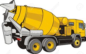 Concrete Mixer Truck Clipart.