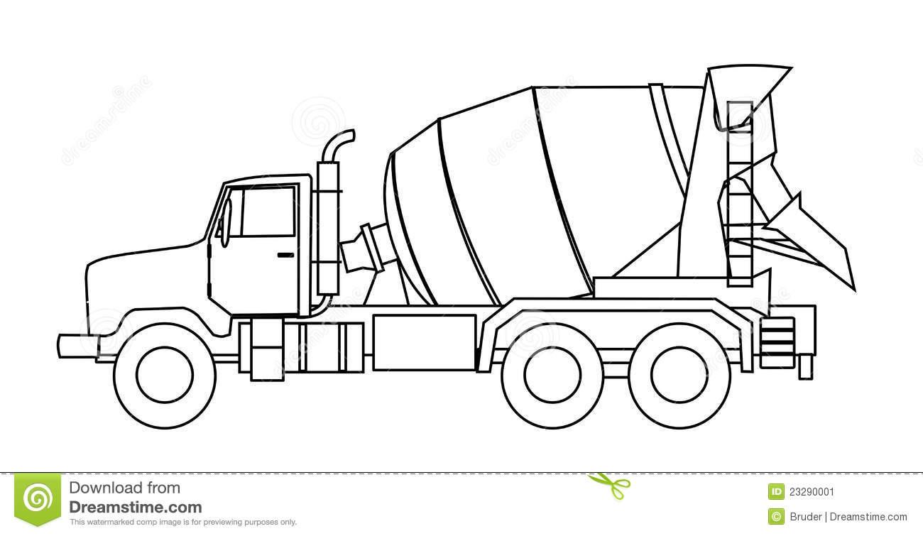 Concrete Mixer Truck Clipart Clipground