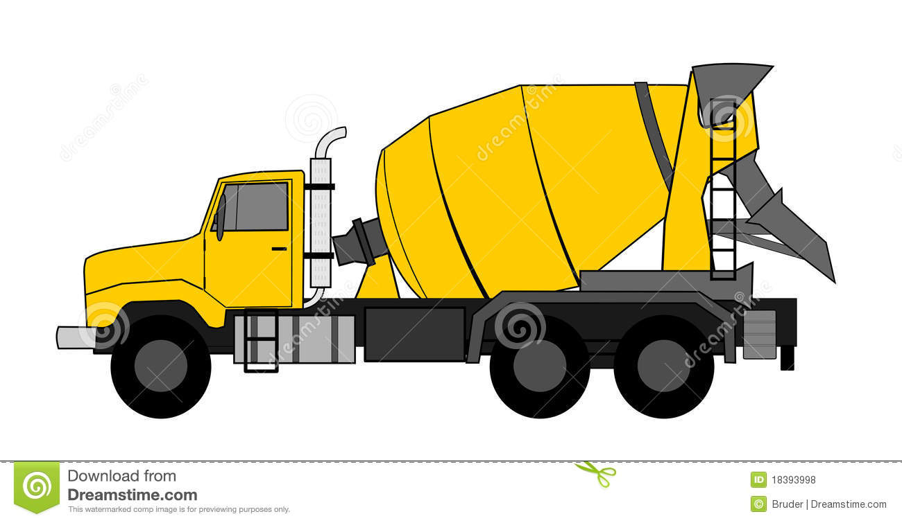 Ready Mix Truck Clipart.