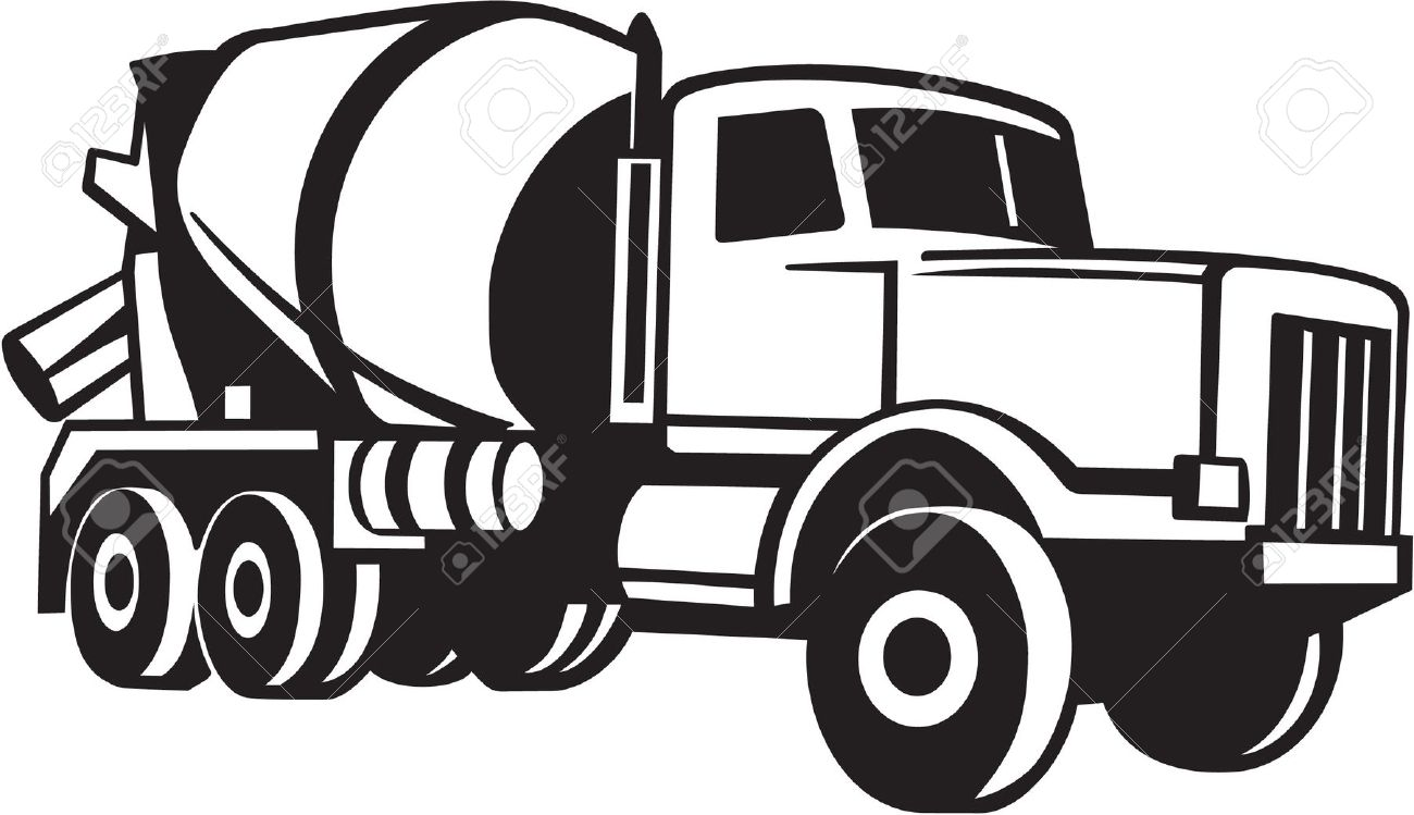 Cement Mixer Truck Vinyl Ready Royalty Free Cliparts, Vectors, And.