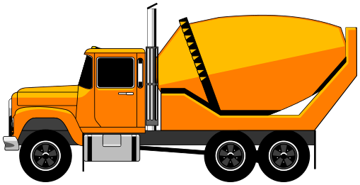 mixing truck clipart.