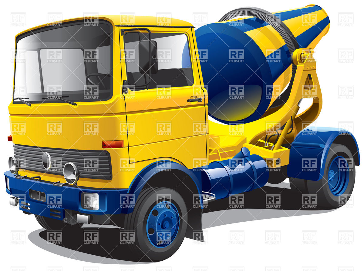Concrete mixer truck Vector Image #6221.
