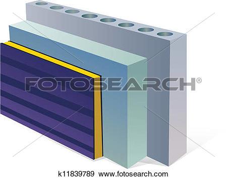 Clip Art of sandwich panels aerocrete concrete slabs k11839789.