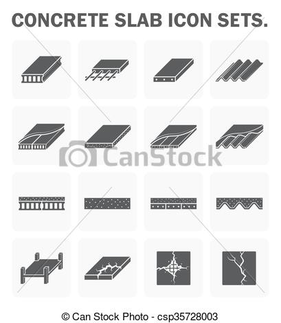 Vector Clipart of Concrete slab icons.