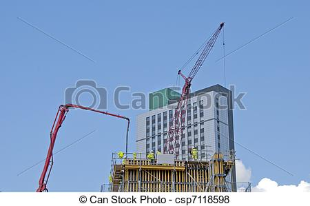 Pictures of Tower Crane and Concrete Pump.