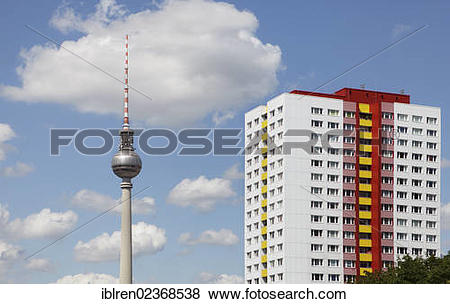 """Pictures of """"Berlin TV tower and renovated former GDR."""