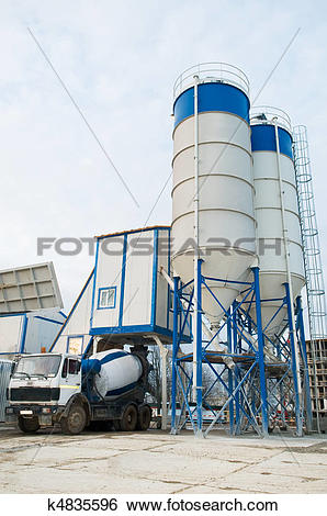 Stock Images of concrete batching plant k4835596.