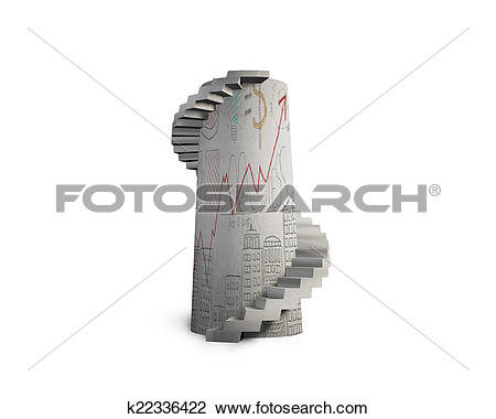 Clip Art of doodles concrete spiral staircase tower k22336422.