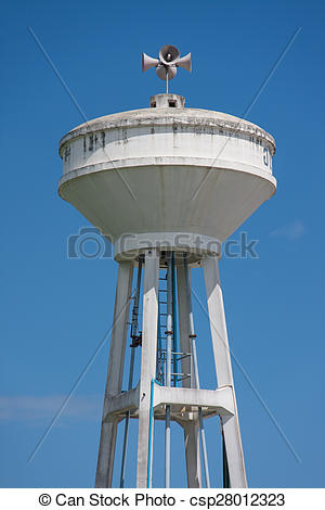 Stock Photo of concrete tower water tank with blue sky csp28012323.