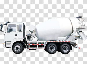 Concrete mixer Cement Truck , Trucks hauling goods transparent.