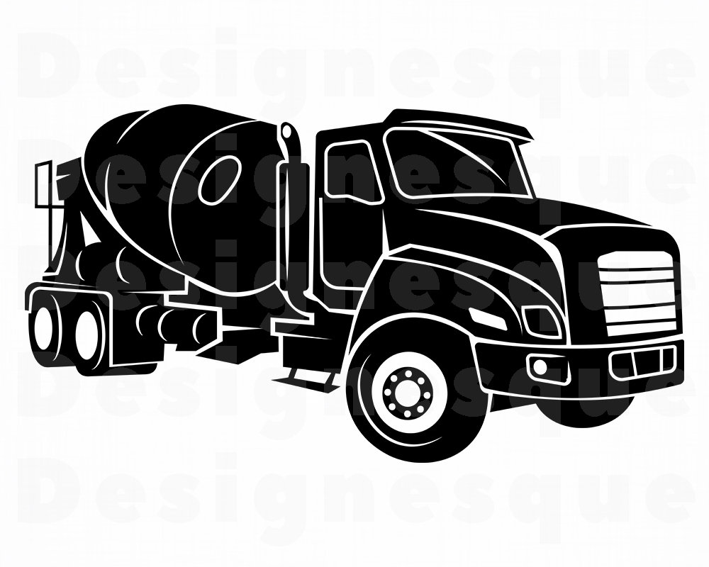 Cement Truck SVG, Truck SVG, Trucking Svg, Construction Svg, Truck Clipart,  Truck Files for Cricut, Truck Cut Files For Silhouette, Dxf, Png.