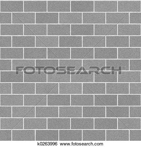 Stock Illustration of Concrete Brick Wall k0263996.