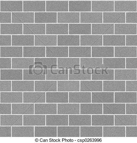 Stock Illustration of Concrete Brick Wall.