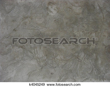 Stock Photograph of large cloudy gray concrete wall with wash.