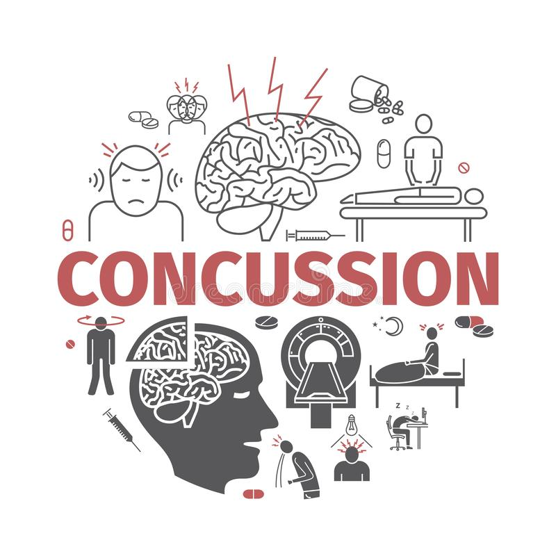 Concussion Stock Illustrations.