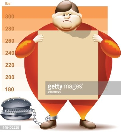 Condemned To Obesity Clipart Image.