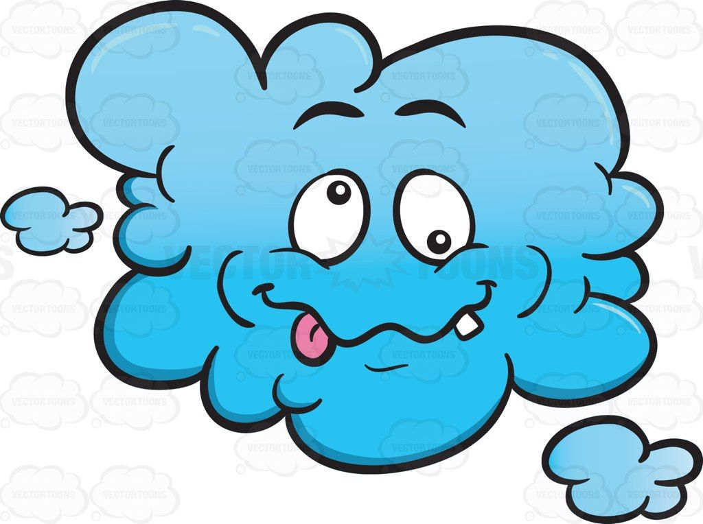 Crazy Looney Cloud Emoji #atmosphere #atmosphericcycle.