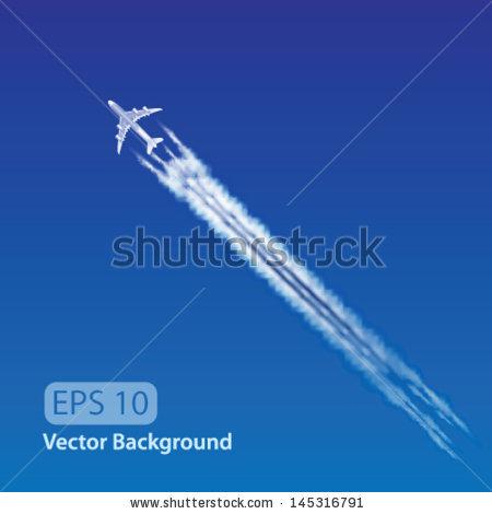 Contrail Stock Vectors, Images & Vector Art.