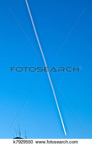 Stock Photography of Aircrafts with condensation trail k7929550.