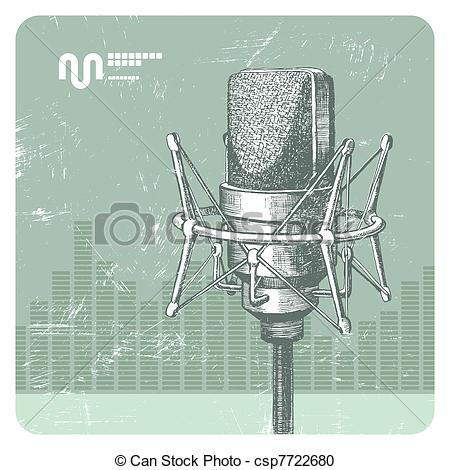 Condenser microphone Vector Clipart EPS Images. 13 Condenser.