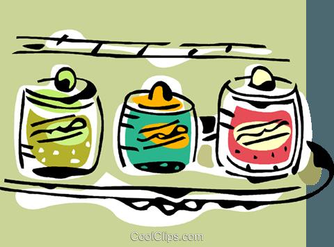 Condimentos libres de derechos ilustraciones de vectores.
