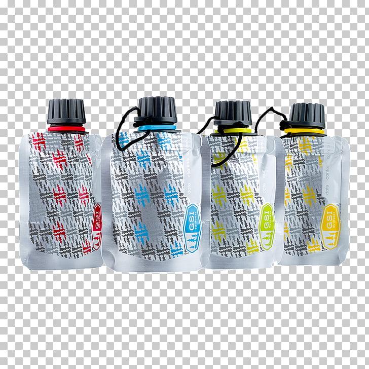 Botellas de agua, condimentos, utensilios de cocina.