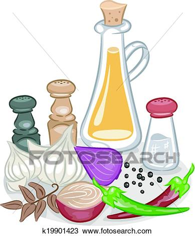 Spices and Condiments Clipart.