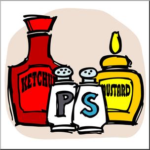 Clip Art: Condiments Color I abcteach.com.