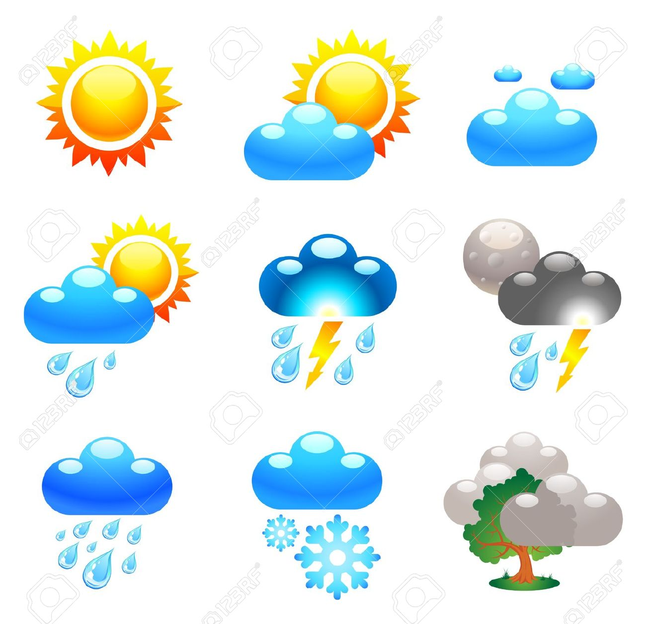 Weather condition clipart.