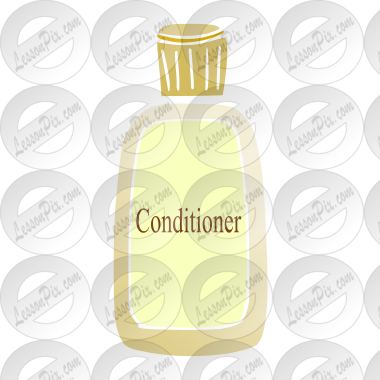 Conditioner Stencil for Classroom / Therapy Use.