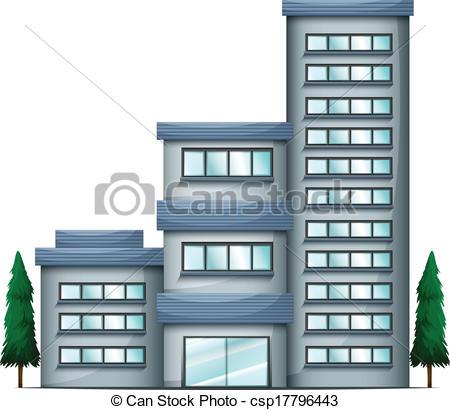 EPS Vector of A tall condo building.