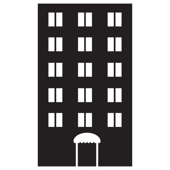 Black And White Clip Art Condo Apartments.
