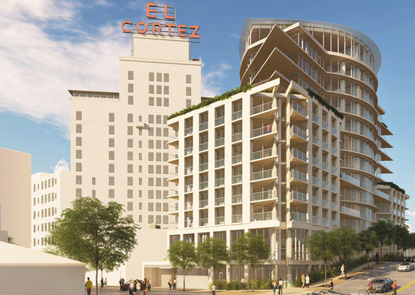 Design of condo building behind El Cortez approved.