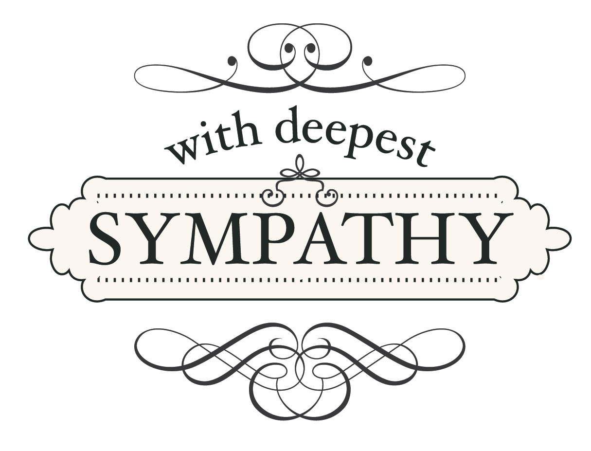 Our deepest sympathy clipart.