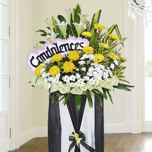 Funeral Flowers Stand, Sympathy Wreaths & Floral Arrangements.
