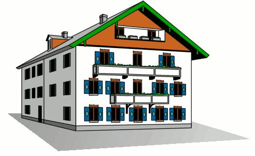 Apartment Buildings Clipart.